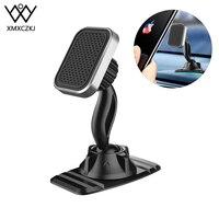 XMXCZKJ-soporte magnético de teléfono para coche, doble GPS de 360 grados, imán fuerte para iPhone, Xiaomi, montaje en el salpicadero