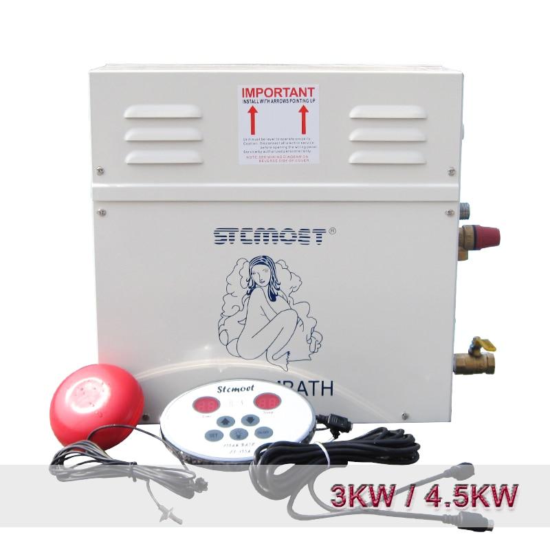 Steam Generator Sauna Steam Bath Machine For Home Sauna Room 220V/380V With Digital Controller SPA Fumigation Machine 3KW/4.5KW Humidifiers     - title=