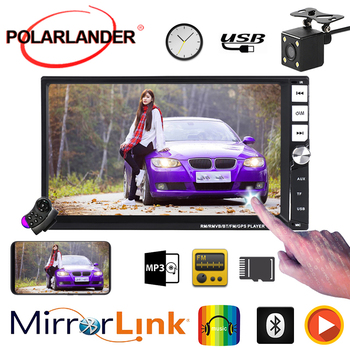 "Multimedia Audio MP5 player  2 din Car Radio  2 din 7"" subwoofer Mirror Link android Bluetooth camera autoradio"