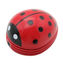 Ladybug Shaped Portable Corner Desk Vacuum Cleaner Mini Cute Vacuum Cleaner Dust Sweeper for Home Office Table Clean