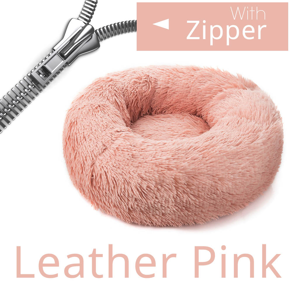 Zipper Leather Pink