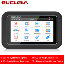 Eucleia S7C OBD2 Scanner Volledige System Diagnostic Tool OBD2 Auto Diagnostic Tool Ecu Activering Test Codering Abs Tpms Dpf Immo reset