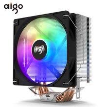 Aigo – refroidisseur de processeur RGB, 4 tuyaux de chaleur, 120mm, PWM SYNC ARGB, ventilateur pour Intel 1150 1155 1366 2011 AM3 + AM4