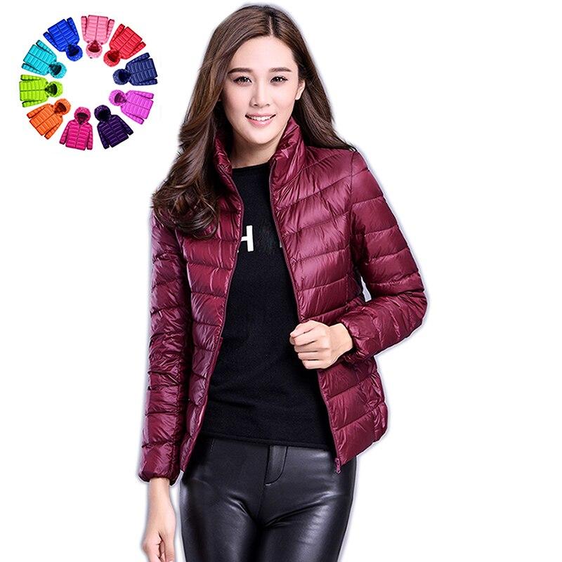 Winter Women Ultralight Thin Down Jacket 90% White Duck Down Hooded Jackets Long Sleeve Warm Coat Parka Female Portable Outwear