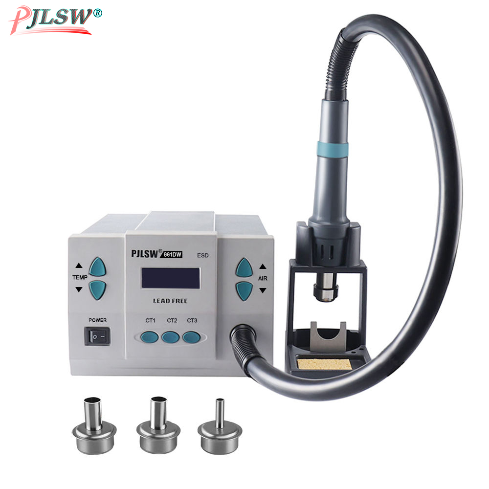 gun lead-free For Intelligent chip 861DW hot PJLSW digital soldering repair displayrework 900W station PCB 110V-120V air station