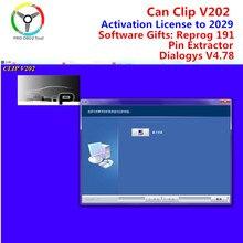 O mais novo pode clipe v203 reprog v191 suporte multi-idiomas pino extrator para renault pode clipe 202 licença de ativação para 2029