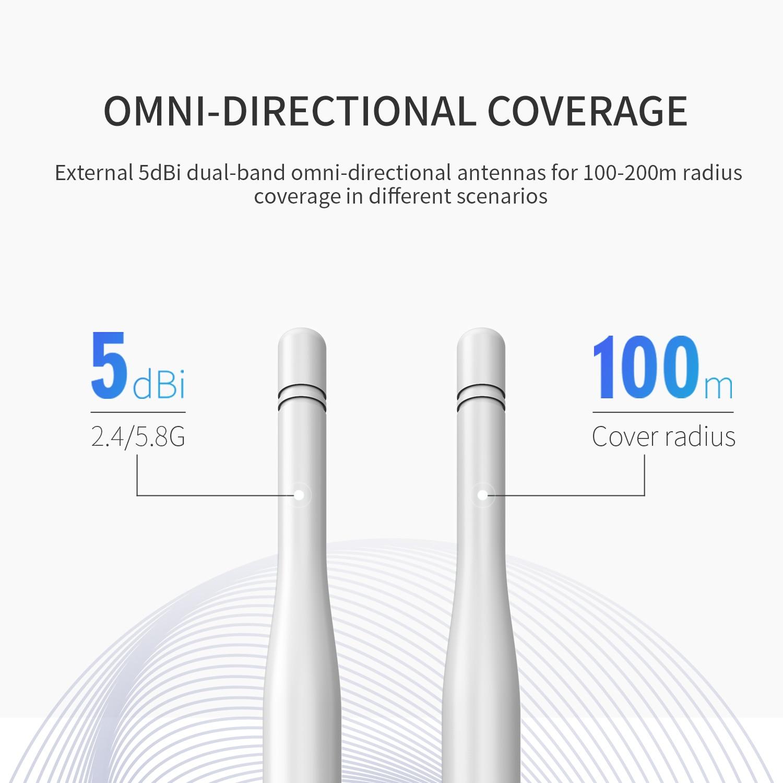 1200mbps wifi ponto de acesso ao ar 04