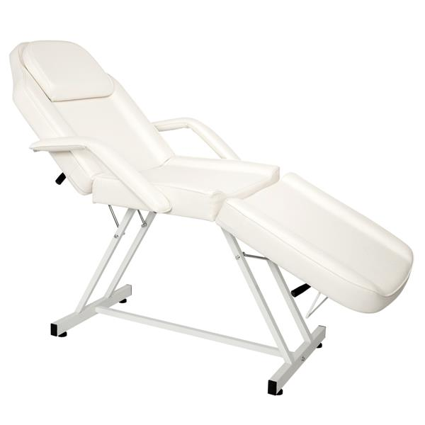 Beauty Salon Furniture Professional Spa Massage Bed Leather Adjustable Massage Table Facial Bed White SKU33929908