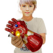 Yacn  Infinity Gauntlet Glove Iron Man for Kids, Iron Man Glove LED with Removable Magnet Infinity Stones-3 Flash Mode yacn infinity gauntlet glove avengers infinity war cosplay for kids glove infinity led light send keychain