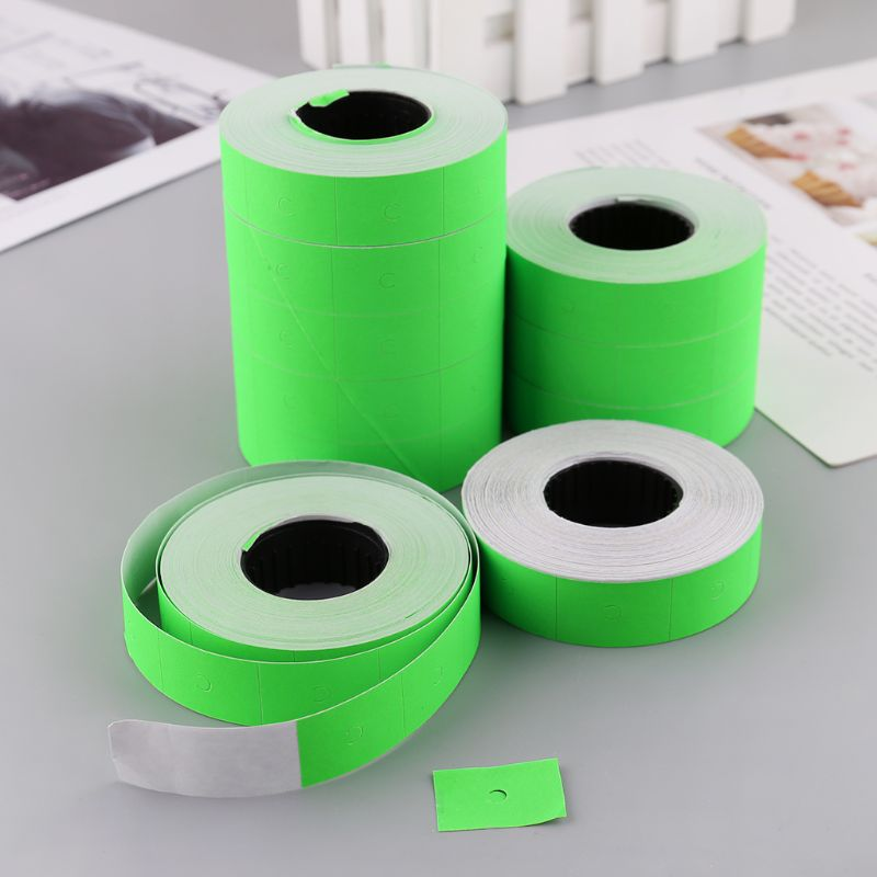 10 Rolls 5000 Pieces Double Row Colorful Price Label Paper Tag Mark Sticker For MX-6600 Labeller