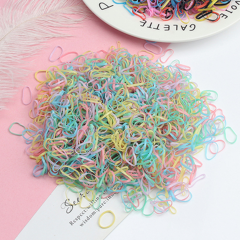 1000pcs/Pack Fashion Girls Colorful Small Disposable Rubber Bands Gum For Ponytail Holder Elastic Hair Bands Hair Accessories