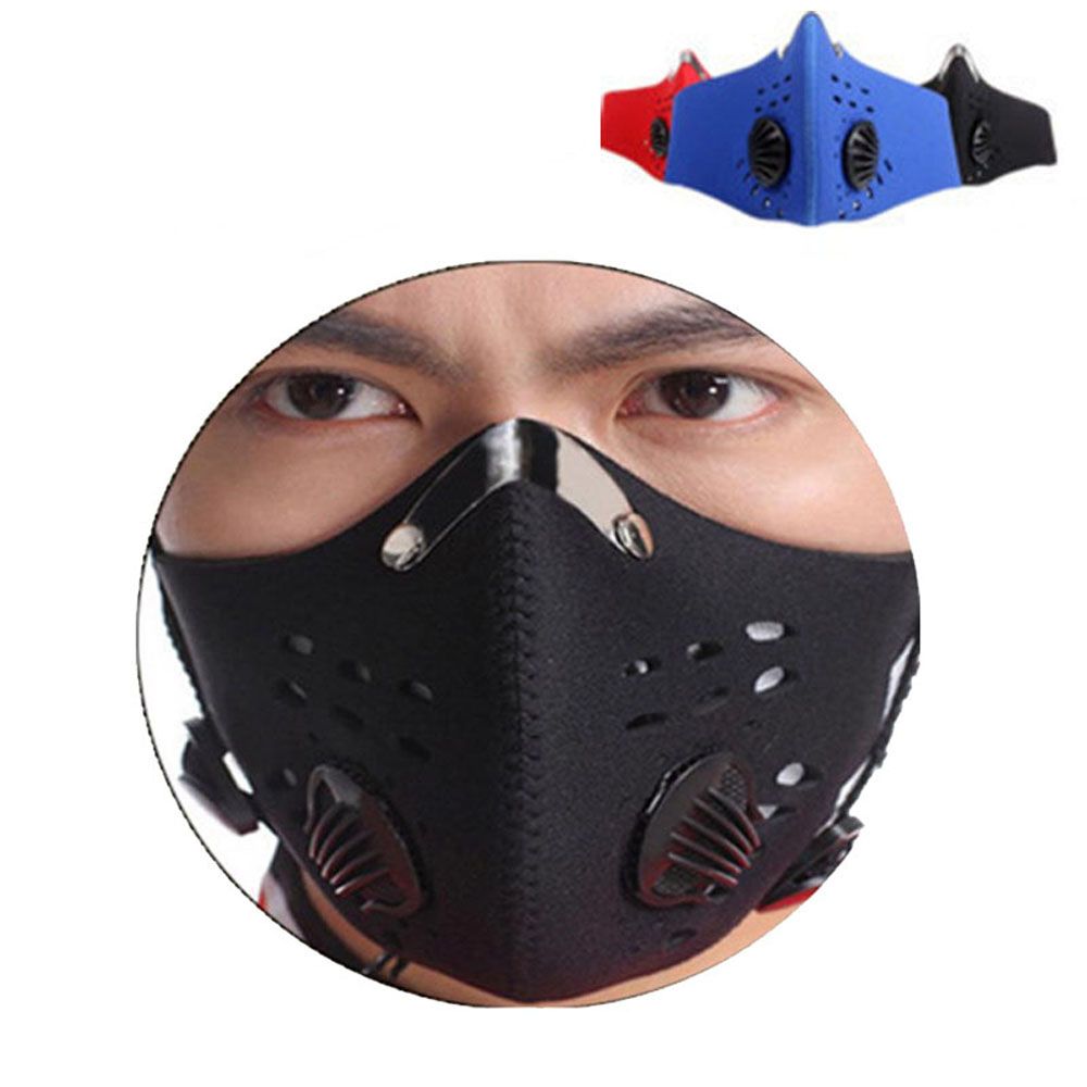 PM2.5 Activated Carbon Mask Activated Carbon With Filter Anti-Pollution Cycling Sport Bicycle MTB Bike Face Mask