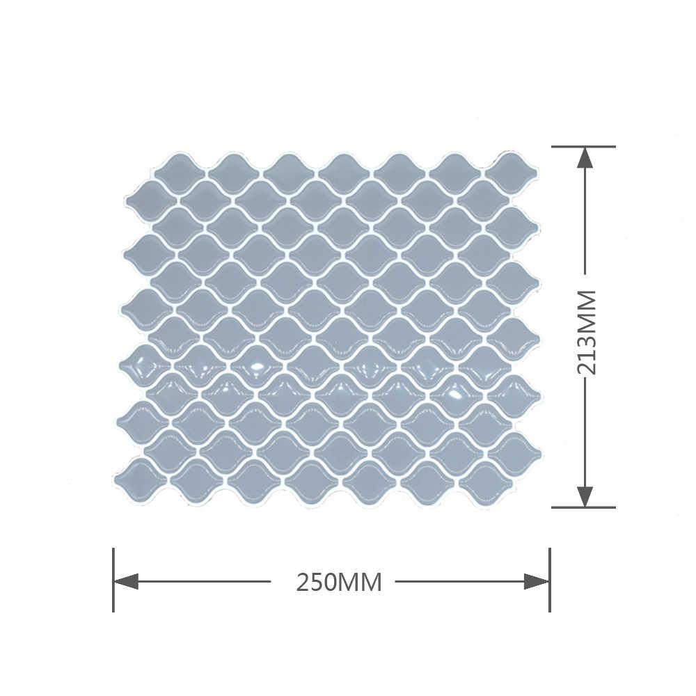 1PC 3D Lanterna a Forma di Autoadesivo Della Parete Mattonelle di Mosaico di Mattoni Decorazione Della Cucina e Bagno In Vinile Auto-adesivo di Carta Da Parati 250x213 millimetri