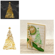Hot Foil Plate Delicate Hollowed Christmas Tree for DIY Scrapbooking Embossing Crafts Cards Decoration New 2019