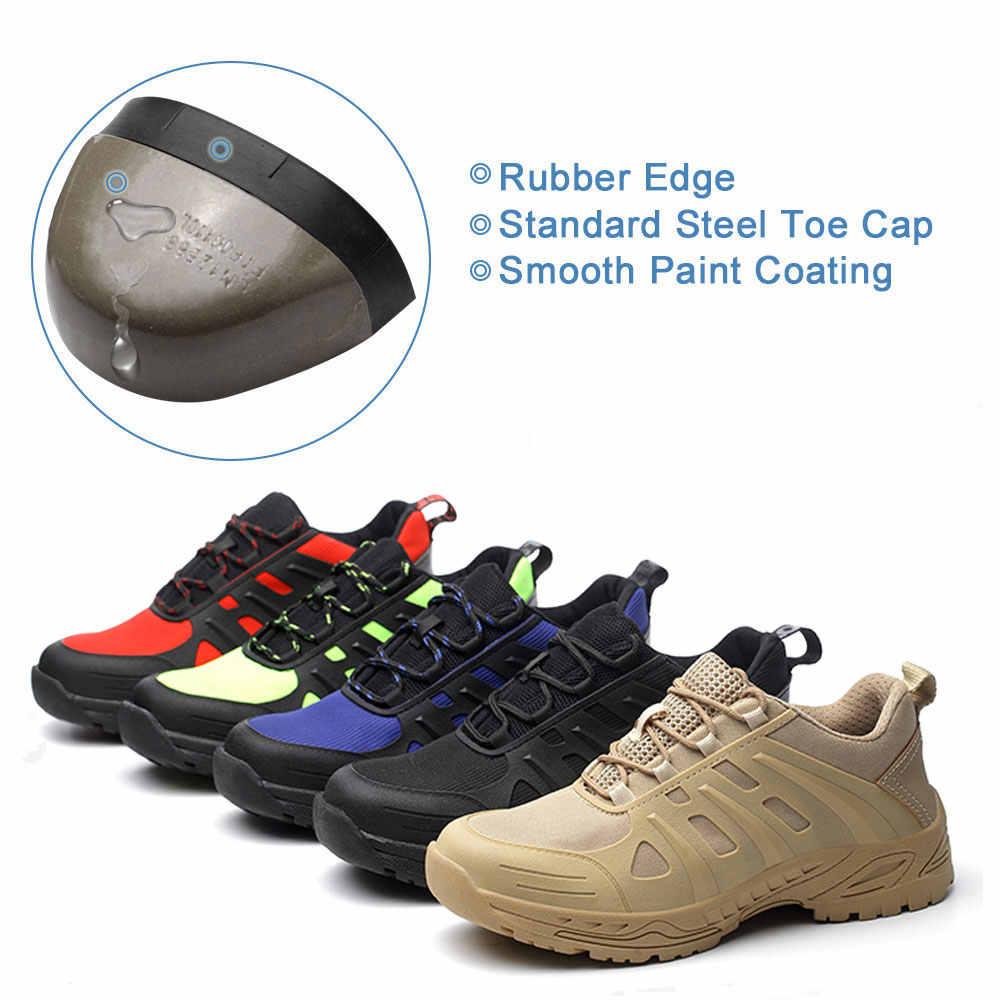SUADEEX zapatos de punta de acero para hombre zapatos de seguridad de trabajo ligeros antigolpes antideslizantes