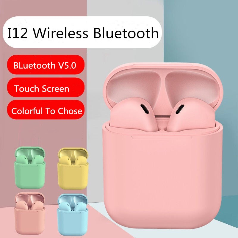 i12 tws Wireless Bluetooth Earphone Earbuds Auto connect Portable Earpieces Sports Headset music For Iphone Samsung Huawei