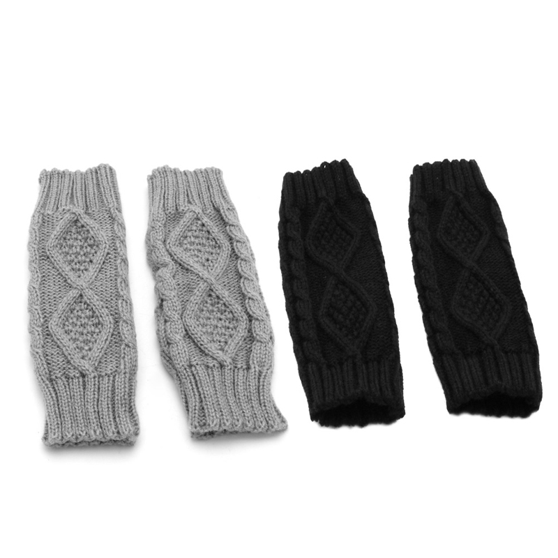 Winter Women Wrist Arm Hand Warmer Knitted Long Fingerless Gloves Mitten LX9E