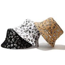 Bucket-Hat Fisherman Hats Hat Summer Spring-Print Sun-Protection Leopard Korean Women Panama