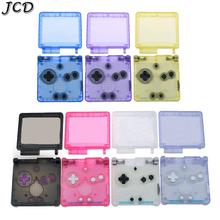 JCD Transparent Clear Color Clear White black blue Pin purple For GameBoy Advance SP Shell For GBA SP console Housing Case Cover
