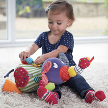 Educational Toys For Baby 0-12 Month Cartoon Plush Elephant Rattles