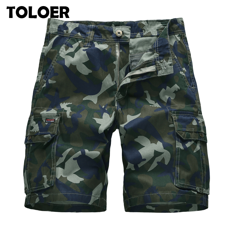 Camouflage Cargo Shorts Men Premium Quality Casual Military Army Style Beach Shorts Loose Baggy Pocket Camo Shorts Male Clothes