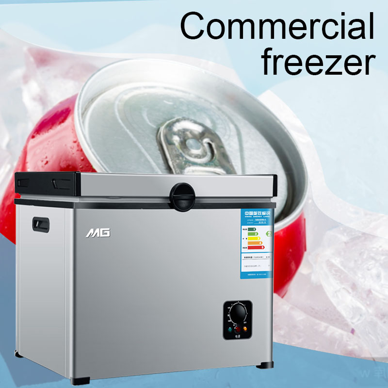 220V/120W Household Frozen Horizontal Freezer Commercial Large Capacity Freezer Single Temperature Cold Storage Cabinet
