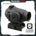 Vector Optics Maverick X genii 1x22 Red Dot Zielfernrohr Jagd Optic Tactical Uncapped Revolver QD Halterung Für Echt schusswaffen Airsoft-in Zielfernrohre aus Sport und Unterhaltung bei