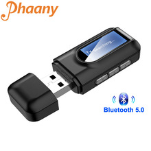 Phaany Bluetooth 5,0 Car Kit USB Audio Music Receiver Transmitter 2 IN 1 Mini 3,5mm Jack AUX Stereo Wireless adapter