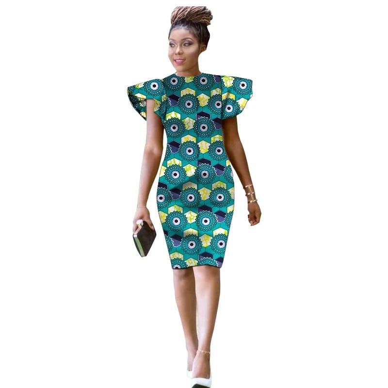 Fashion African Women Ankara Outfits Dashiki Print Slim Fit Dress Knee Length Wedding Party Dresses For Lady Dresses Aliexpress