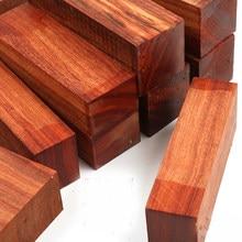 Pterocarpus soyauxii-cuchillo de madera de sándalo de palisandro africano, tirachinas, mango de madera, artesanías de carpintería DIY