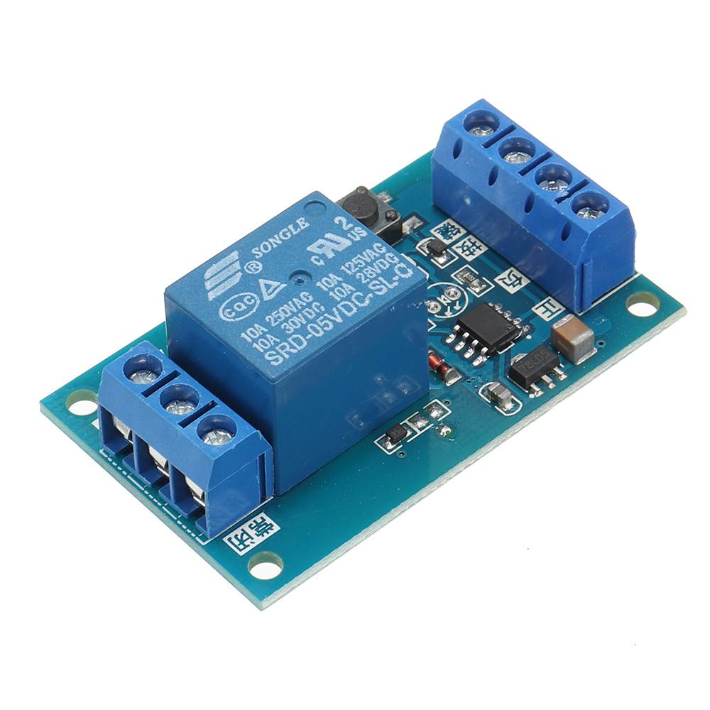 LEORY DC5V Single Bond Button Bistable Relay Module Modified Car Start And Stop Self-Locking Switch One Key Circuits