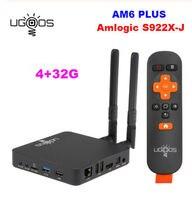 UGOOS AM6 Plus Amlogic S922X J Set Android 9.0 Tv Box 4GB DDR4 32GB 2.4G 5G Wifi 1000M BT5.0 4K Media Player for dolby atmos