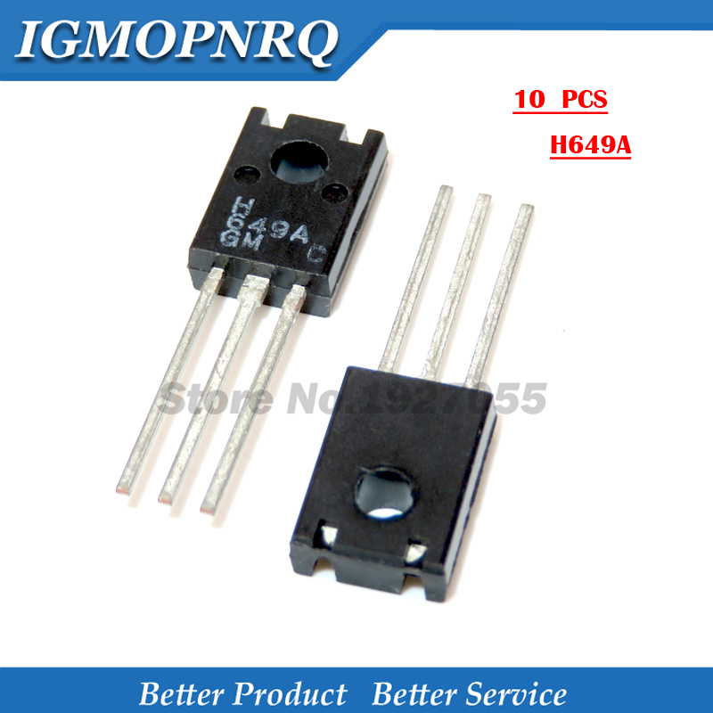 10pcs H649A 2SB649A TO-126 649A 649 Small triode audio amplifier <font><b>H669A</b></font>-C TO126 NEW image