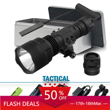 lantern led tactical flashlight cree xm l2 torch 1 mode spotlight hunting  rechargeable waterproof t6 18650 battery 5000lumen 30w 3000lm brightest xml l2 led tactical flashlight powerful torch 6 lighting mode waterproof rechargeable battery for hunting