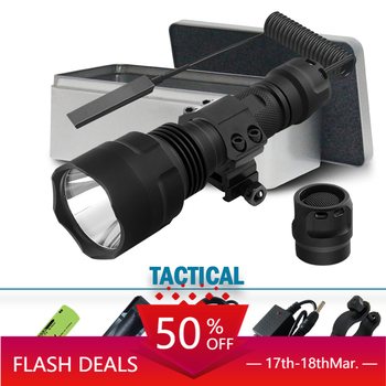 цена на lantern led tactical flashlight cree xm l2 torch 1 mode spotlight hunting  rechargeable waterproof t6 18650 battery 5000lumen