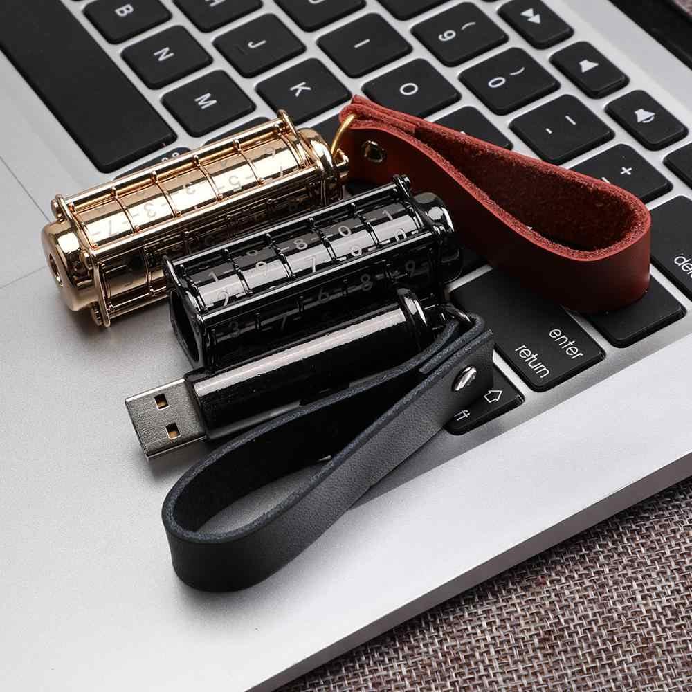 كلمة السر ذاكرة عصا USB3.0 معدن مقاوم للماء محرك فلاش usb 128 جيجابايت U القرص مفتاح تعليق 64 جيجابايت 32 جيجابايت 16 جيجابايت 16 جيجابايت 8 جيجابايت القلم محرك