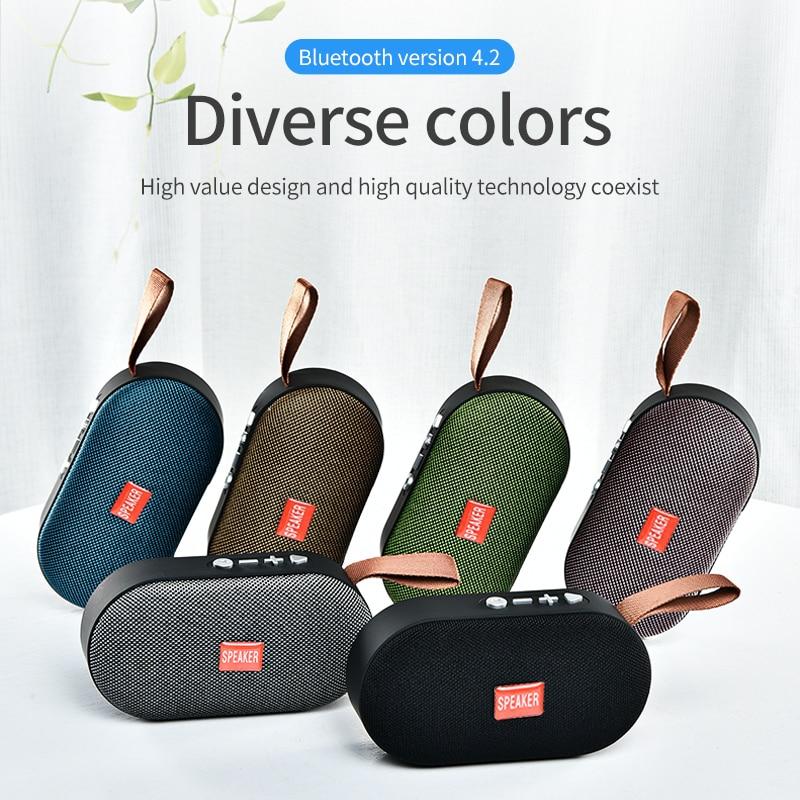 T7 Mini Bluetooth Speaker Portable Wireless Loudspeaker Sound System 3D Stereo Music Surround Outdoor Speaker Support FM TFCard 6