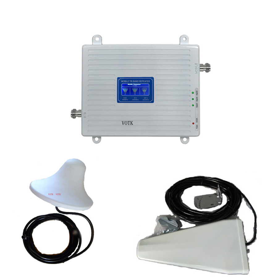 2g 4g Celluar Signal Booster 4G LTE GSM DCS  Communication Signal Repeater 2G4G Network Booster With LDP Antenna  Full Set