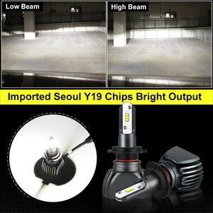 Image 3 - 2pcファンレスH7 車ヘッドライト電球H1 H3 H4 ソウルY19 チップledランプ電球H8 H9 H11 9006 HB4 9005 HB3 H27 880 881 オートledランプ