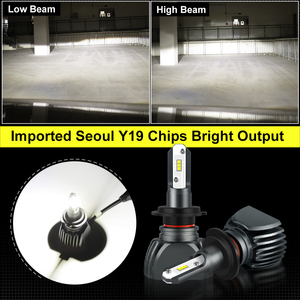 Image 3 - 2pcs Fanless H7 Car Headlight Bulb H1 H3 H4 Seoul Y19 Chips LED Lamp Bulbs H8 H9 H11 9006 HB4 9005 HB3 H27 880 881 Auto Led Lamp