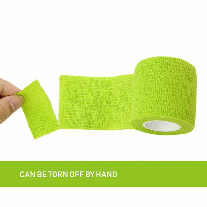 購入 5 1 取得フリー 1pc スポーツ自己粘着包帯獣医ラップテープ指関節医療応急処置キットペット弾性包帯