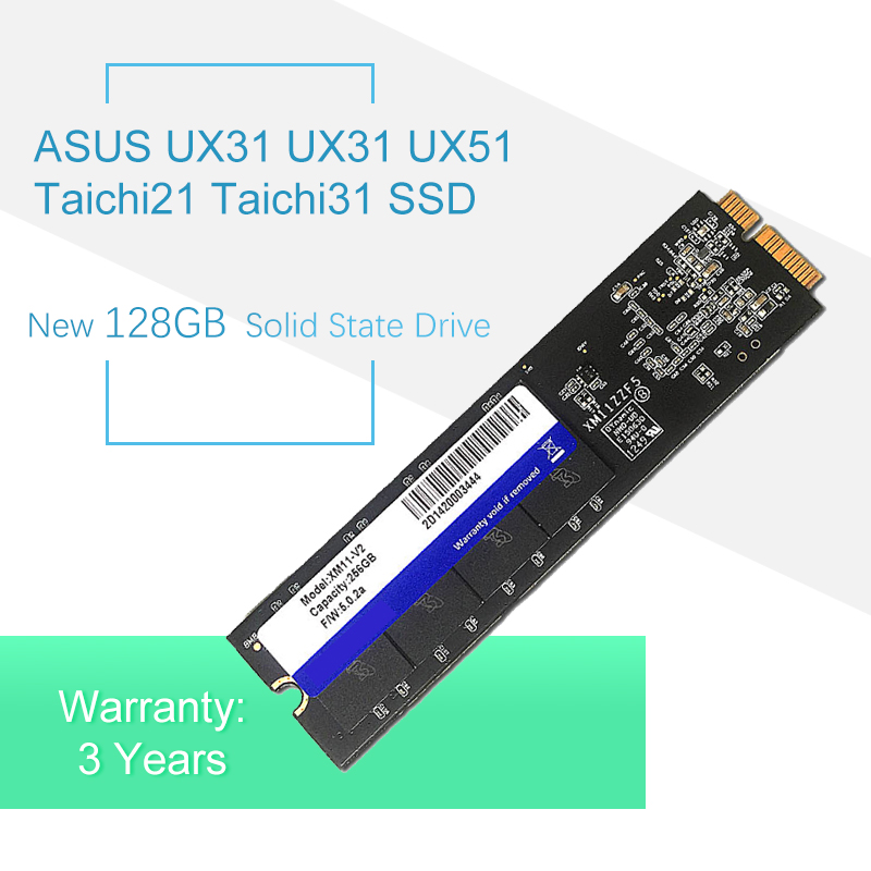 New 128GB Solid State Drive For ASUS TAHCHI21 TAICHI 21 31 UX21 UX31 UX51 SSD Laptop Hdd XM11 Replace SD5SE2 SDSA5JK
