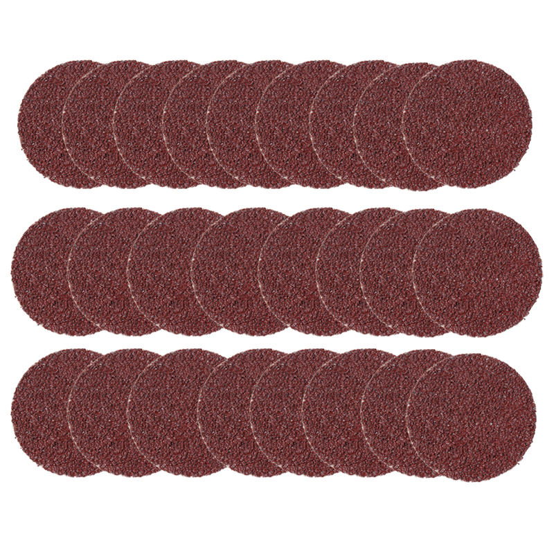 25pcs 2'' 36Grit Roll Lock Sanding Discs Coarse Surface Sanding Pad Paper R-Type Abrasive Pads For Metal Wood Polishing Grinding