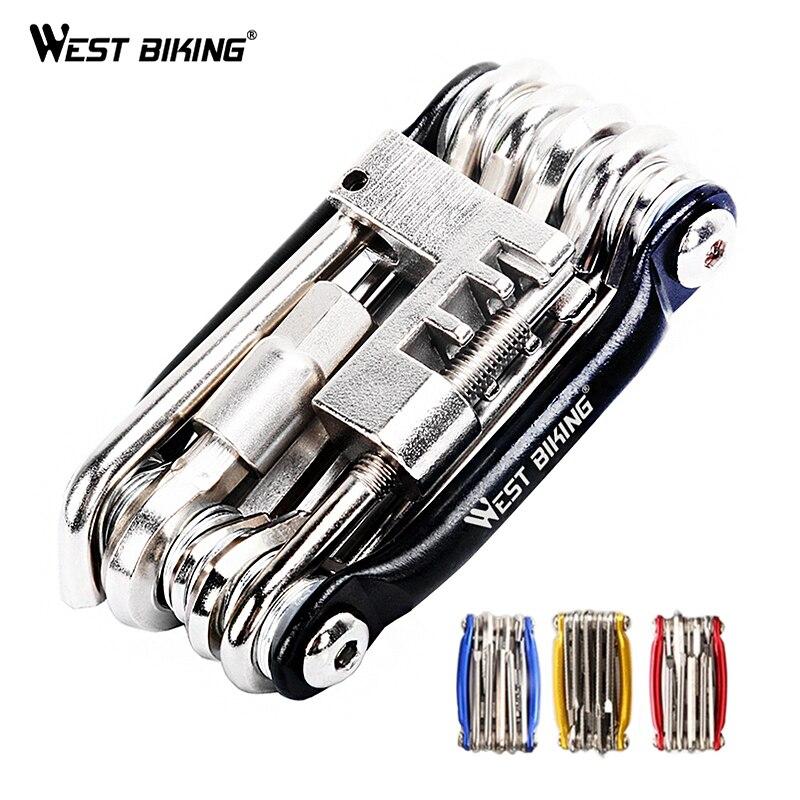 Multifonction vélo vélo réparation outils acier 10 en 1 Kit Herramientas Bicicleta vélo pliant clé Ferramentas vélo outils