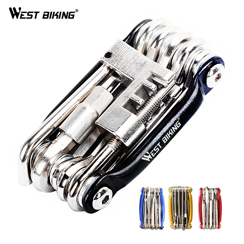 Multifunction Bicycle Bike Repair Tools Steel 10 In 1 Kit Herramientas Bicicleta Cycling Folding Wrench Ferramentas Bike Tools