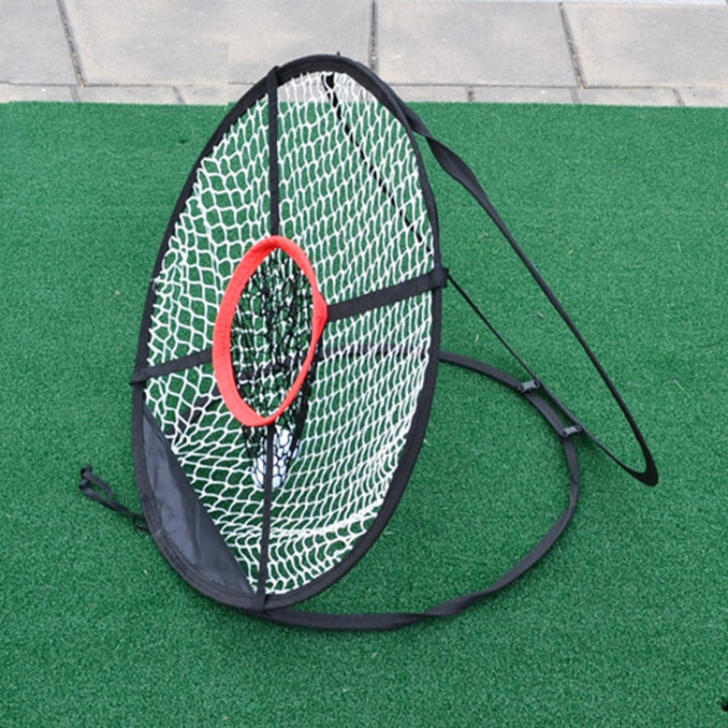 Portable Foldable Golf Chipping Net Golf Outdoor Chipping Pitching Cages Mats Indoor Collapsible Golfing Target For Practice