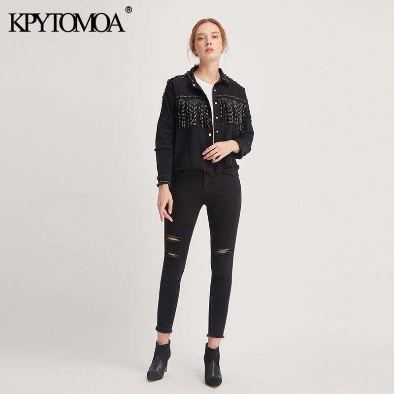H2f78ce560cae430c93f72ca258ea50304 Vintage Stylish Fringe Beaded Oversized Jacket Coat Women 2019 Fashion Long Sleeve Frayed Trim Ladies Outerwear Chaqueta Mujer
