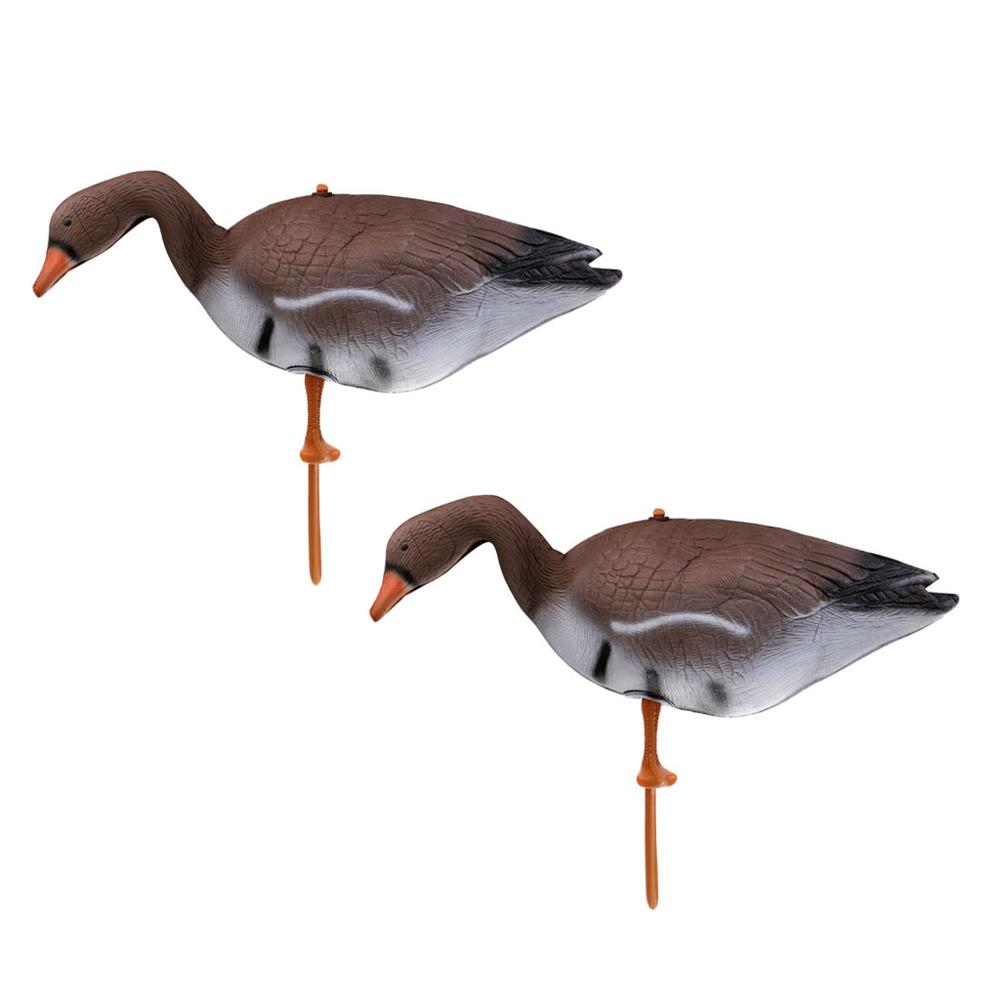 2Pcs Full Body Goose Hunting Decoys Lawn Yard Decors Hunter Greenhand Gear 3D XPE Goose Hunting Decoy Goose Decoy