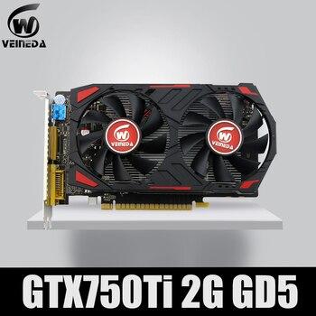 Veineda Video Card Original GPU GTX750Ti 2GB GDDR5 Graphics Cards InstantKill R7 350 ,HD6850 for nVIDIA Geforce games