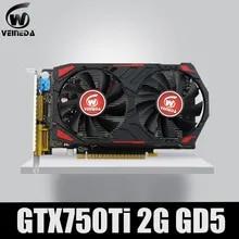 Video-Card GPU Geforce-Games GDDR5 Nvidia R7 350 HD6850 Gtx750ti 2gb Veineda Original